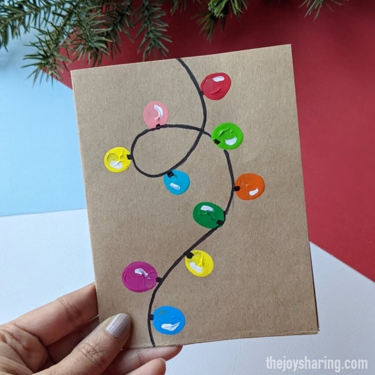 Easy christmas greeting card for kids