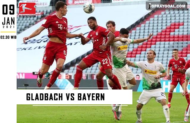 Prediksi Skor Gladbach Vs Bayern Sabtu 9 Januari 2021