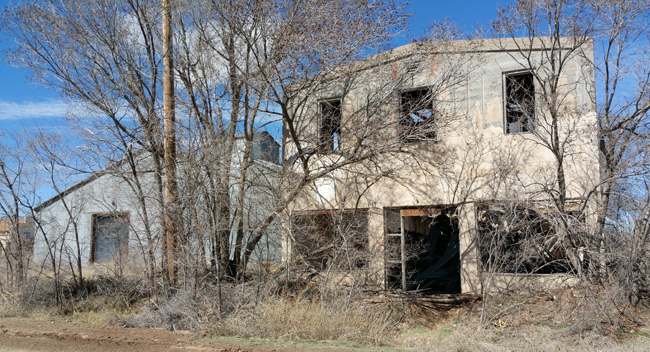 Abandoned buildings in Mountainair New Mexico