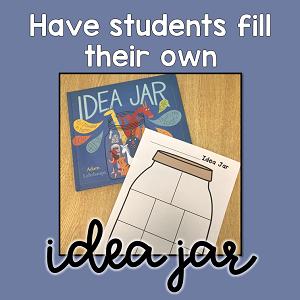 Printable Idea Jar to record writing ideas