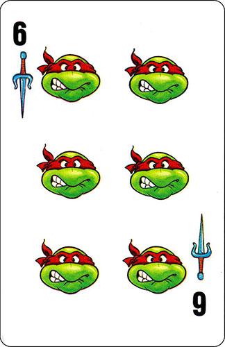 Baraja infantil Las Tortugas Ninja Fournier Carta Raphael 6