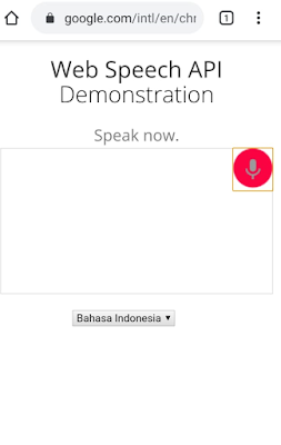 cara menggunakan web speech api demonstration Google-3