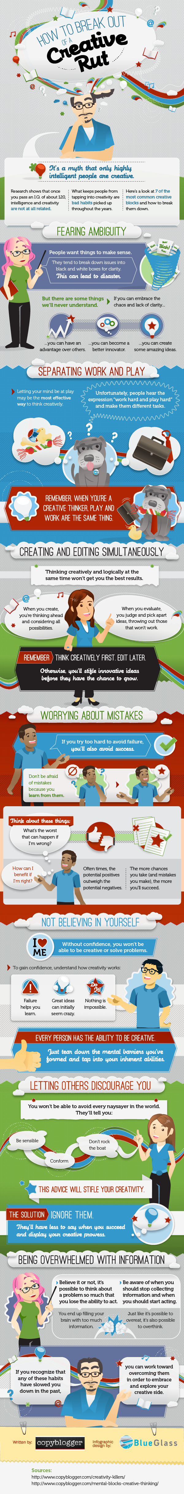 How to Be Creative - #infographic