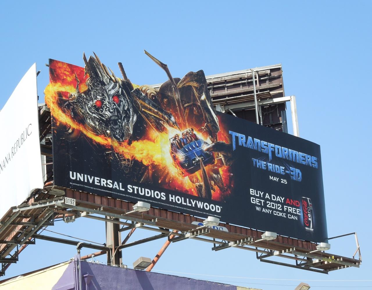 Daily Billboard: Transformers 3D ride Universal Studios ...  Daily Billboard...
