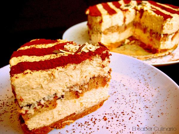 tarta de mousse de tiramisu con ron