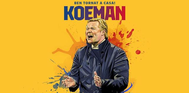 رسميا: برشلونة يعلن تعيين كومان كمدرب للفريق الأول