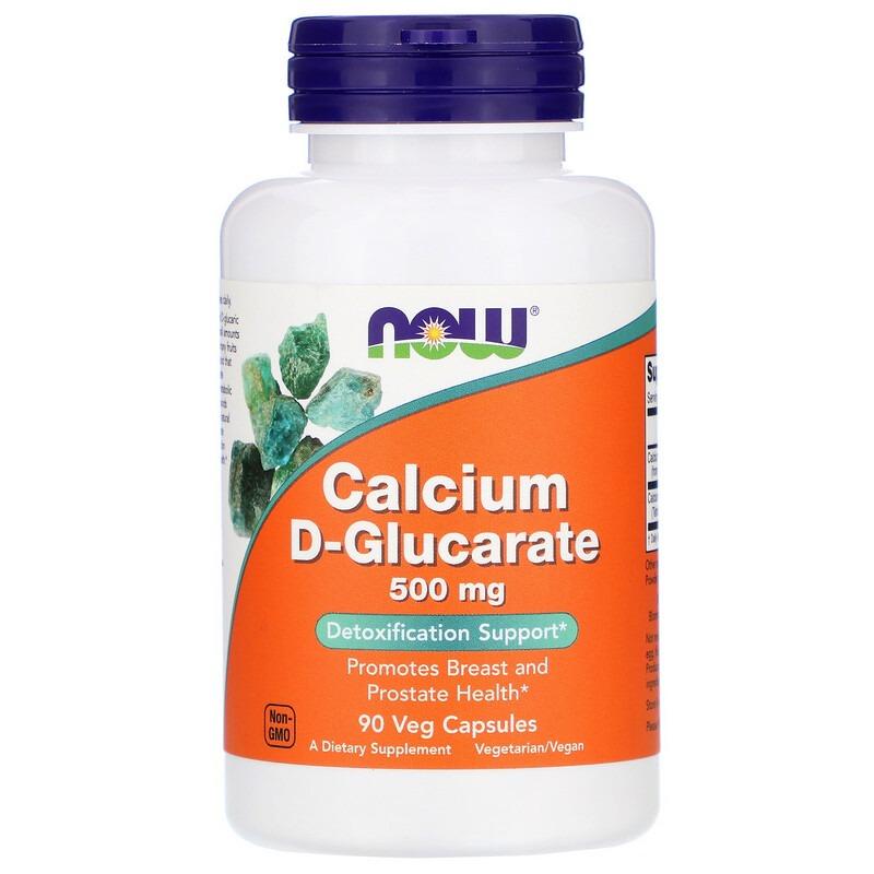 Now Foods, D-глюкарат кальция, 500 мг, 90 растительных капсул