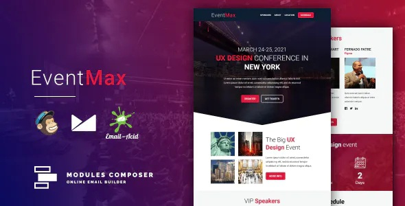 Best Responsive Email for Events and Conferences with Online Builder