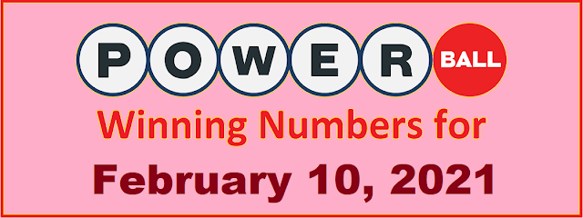 PowerBall Winning Numbers for Wednesday, February 10, 2021