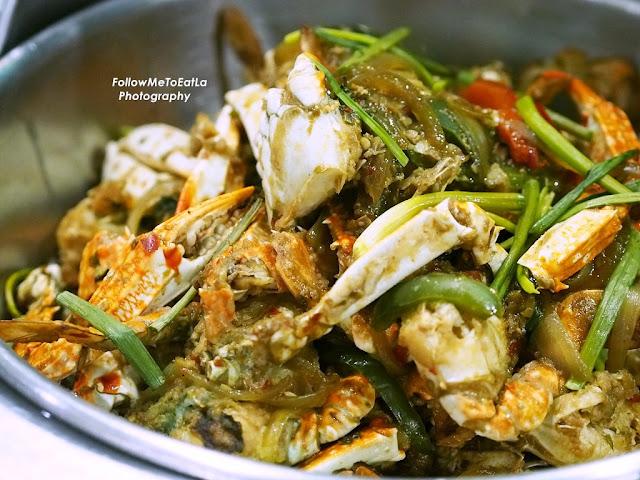 Stir Fried Crab With Basil Leaf Pou Pas Pang Kari