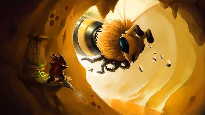 O Boss Queen Bee também merece um espaço nesta lista de Wallpapers Terraria