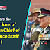 What are the Functions of Indian Chief of Defence Staff (CDS)
