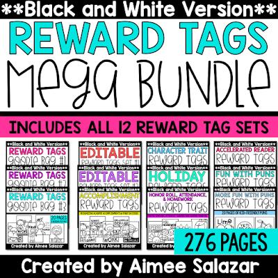 Black and White Ink Saving Reward Tags