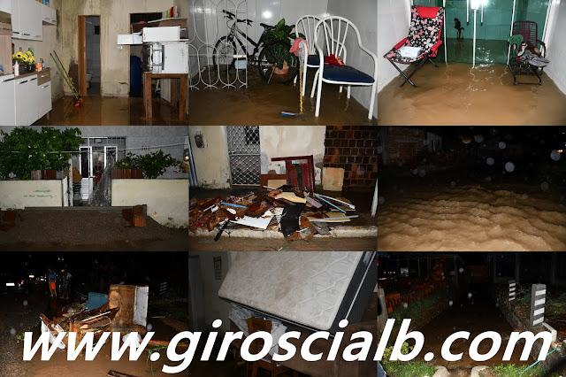 Em Arcoverde no Bairro Boa Esperança  córrego não suporta vazão e água alaga ruas invadindo várias residências causando transtorno e prejuízo aos moradores que revoltados interditam trecho da PE 270