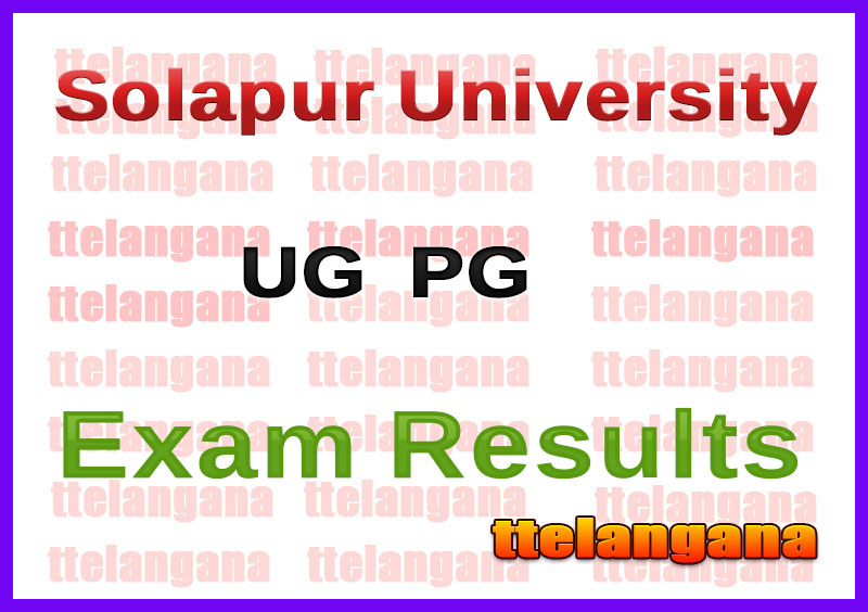 Solapur University UG  PG 1st 3rd 5th Semester Results