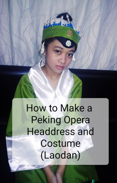 How to make a Peking Opera headdress and costume Laodan