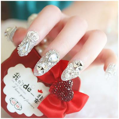 Uñas decoradas de para novias