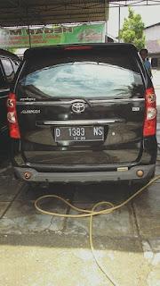 Mobil Toyota Avanza 1.3 G th 2010 plat D, pajak bulan desember 2016. Mesin sehat,ban tebal, ac dingin, harga 113jt nego tampak belakang