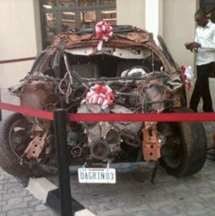 If Dagrin was still alive - Check out photos of wrecked car that puts him to death.