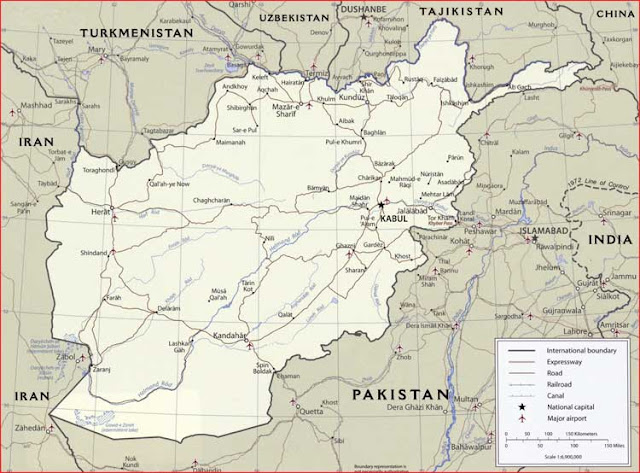 Gambar Peta politik Afghanistan