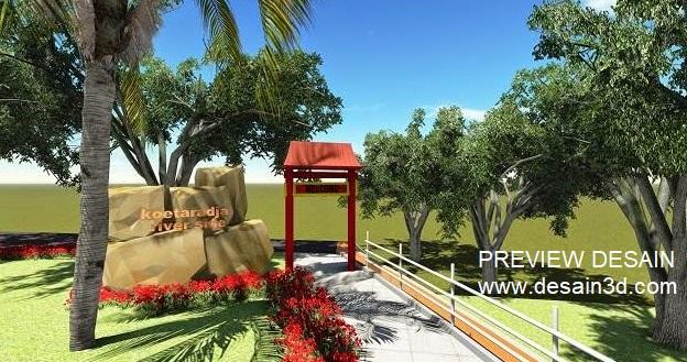 Preview Desain Taman Cafe Gapura Unik Murah Berpengalaman Jasa