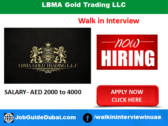 LBMA Gold Trading LLC career for Compliance Officer jobs in Dubai UAE