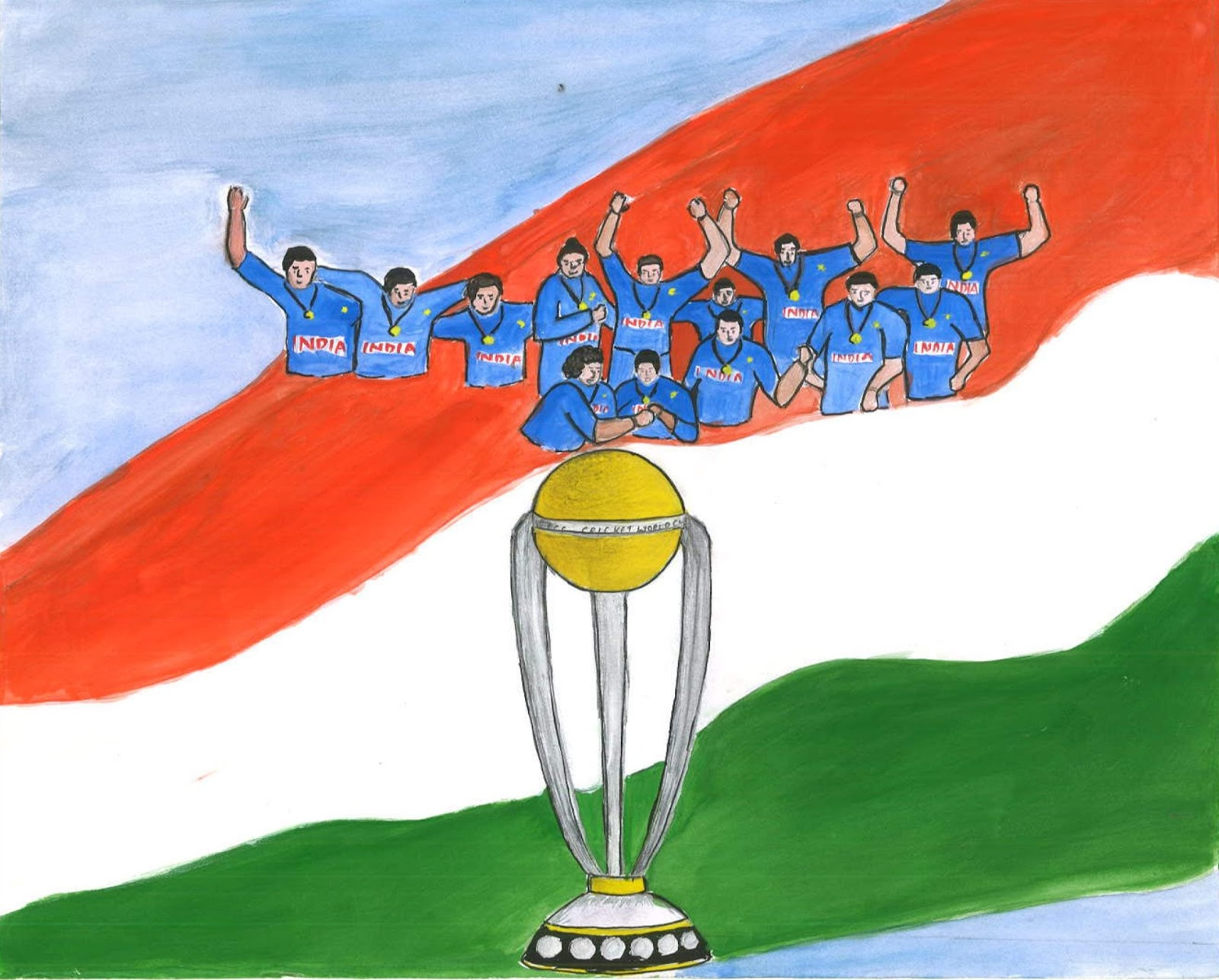 India winning the world cup 1983 or 2011 by raienu sam of x b