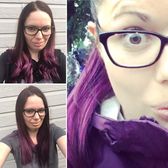 Pouliche cheveux colorés