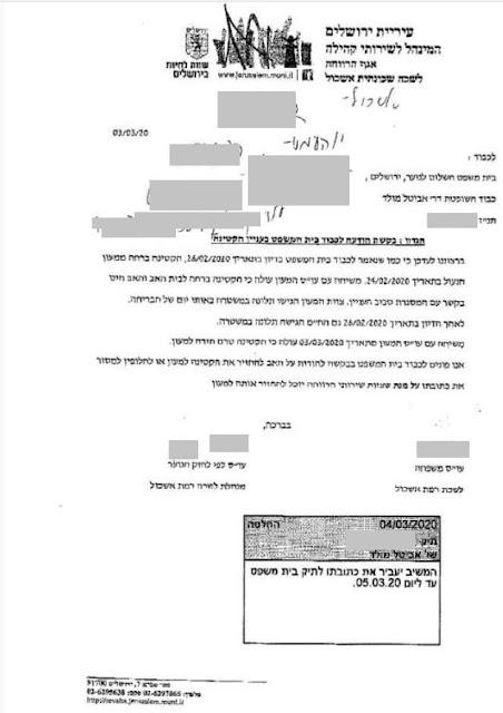 פניית העובדות הסוציאליות לשכת הרווחה רמת אשכול ירושלים לבית המשפט ולמשטרה לכלוא את במכלאת מסילה של משרד הרווחה.