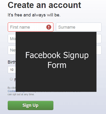 facebook account kaise banaye, how create facebook id in hindi