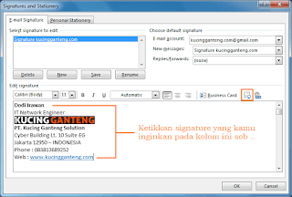 Cara Membuat Signature Email di Microsoft Outlook 2016