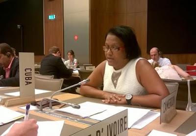 Anayansi Rodríguez Camejo ex embajadora de Cuba ante la oficina de Naciones Unidas en Ginebra