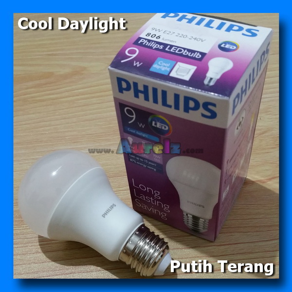 lampu led philips 9 watt cool daylight