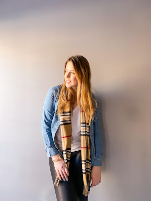 Denim Chambray Top   Style & Co.   London Fog Scarf   Anne Klein gold bangles   Spanx Faux Leather Leggings   Canadian blogger   Toronto Blogger   Fashion Blogger