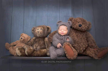 footed newborn romper onesie photography prop grey bear