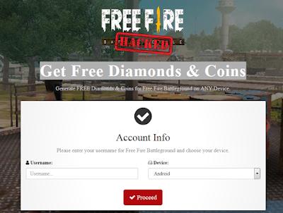 Firebeetle click free fire Hack Diamond dan Coins Free fire terbaru