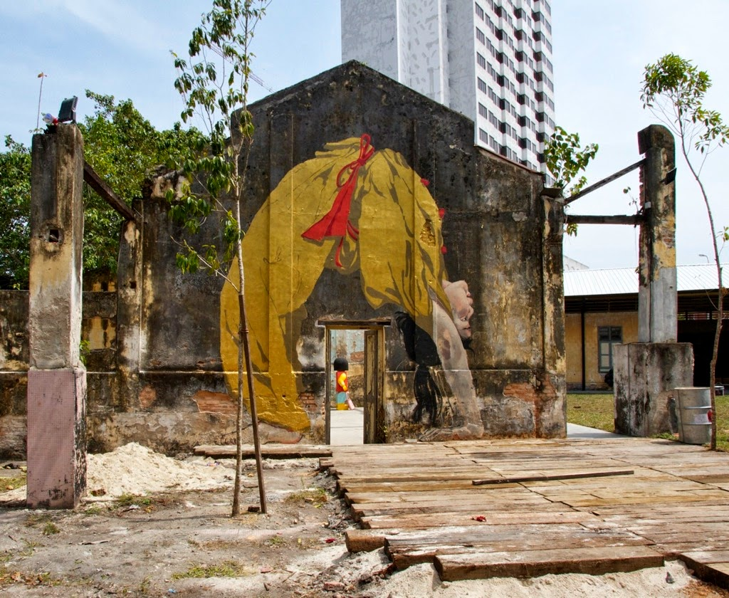 "Coverage of Ernest Zacharevic's solo exhibition in Penang Malaysia: ""Art Is Rubbish Is Art"". 1"