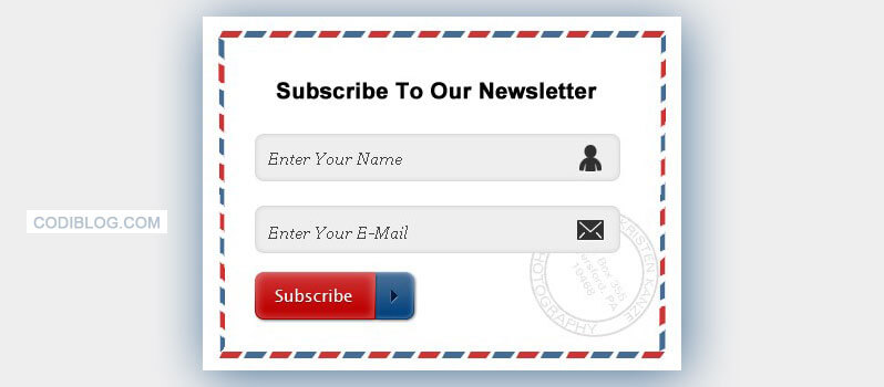blogger newsletter e-mail subscribe widget Stylish Newsletter Email Subscribe Widget for Blogger