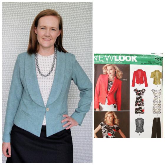 New Look 6013 sage green wool blazer www.loweryourpresserfoot.blogspot.com
