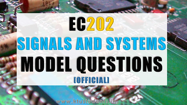 Model Question Paper for EC202 Signals and Systems