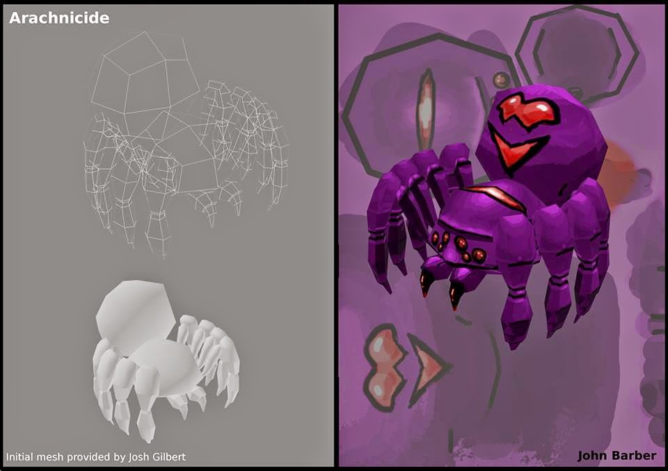 3d stylised spider