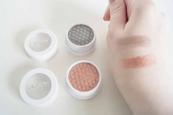 Colourpop Sequin und Partridge Swatch