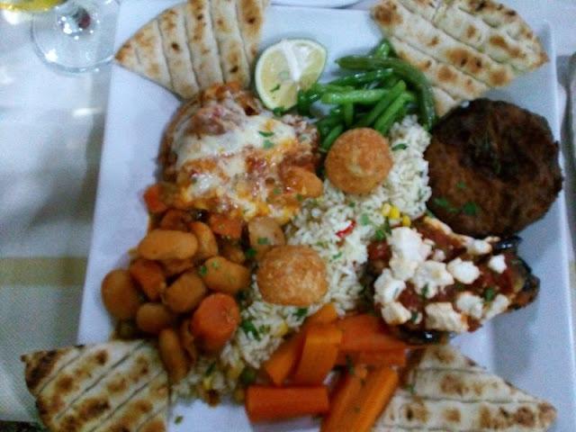 ristorante roulas a  lardos piatto vegetariano