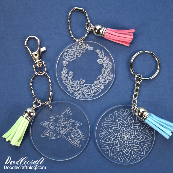 Did you know the Cricut Maker can engrave acrylic? It's true, you need the Maker in your life. It does so many things, you'll never run out of projects to make.  Learn how to engrave acrylic with the Cricut Maker to make custom keychains perfect for a handmade gift!