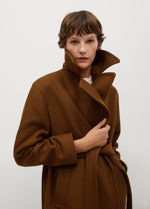 The Best Coats From Mango — Camel Coat Minimalist Winter Outfit Idea