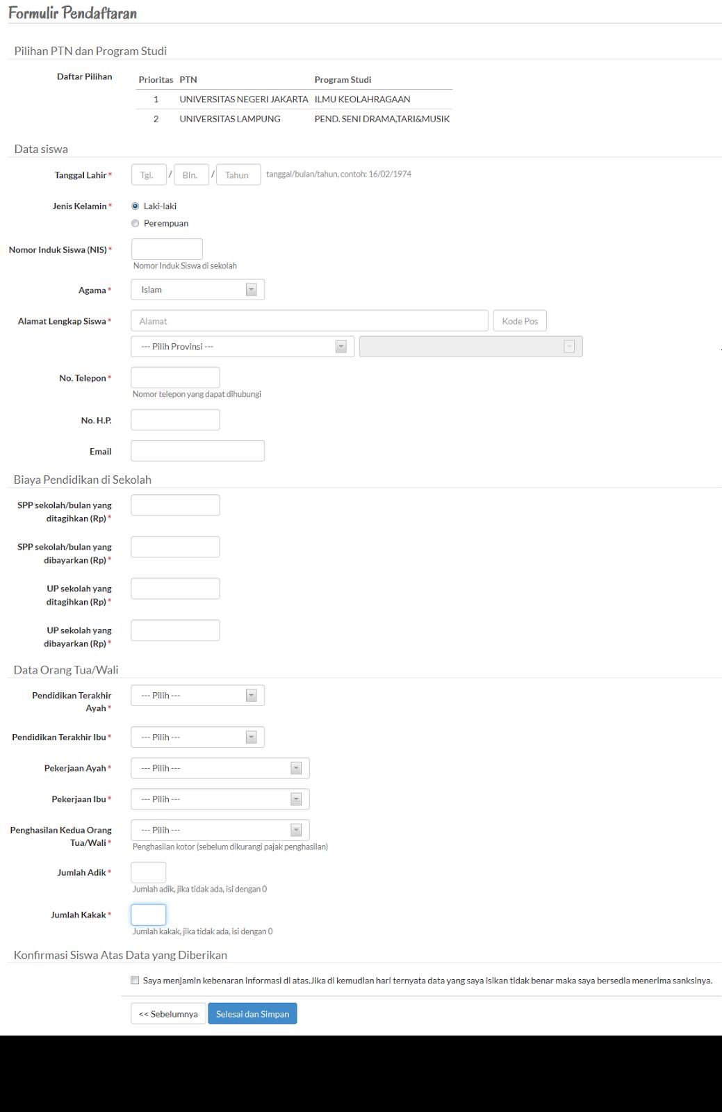 Prosedur Pendaftaran Snmptn 2019 2020 Populer Web Id