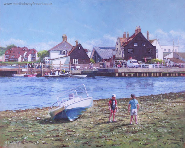 M P Davey Dorset Mudeford Haven Inn art