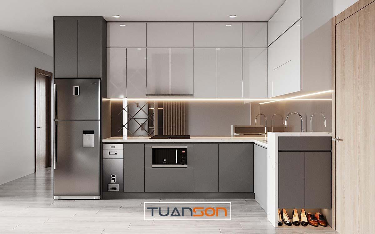 Thiết kế nội thất phòng bếp Vinhomes Ocean Park