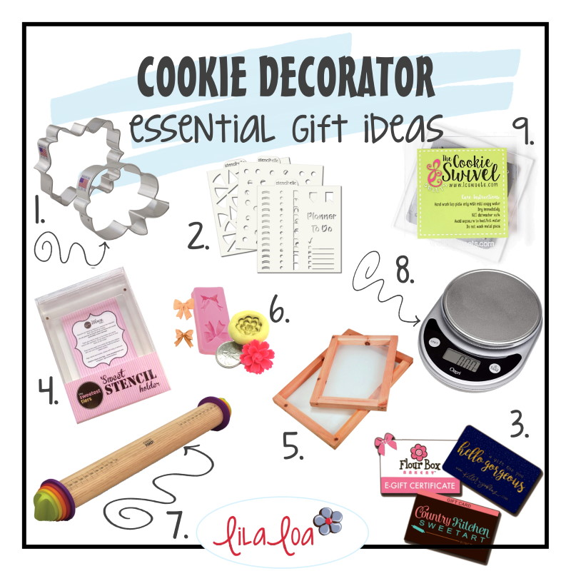 Essential gift ideas list for cookie decorators
