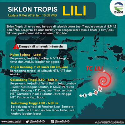 Siklon Tropis Lili Penyebab Cuaca Ekstrem Indonesia
